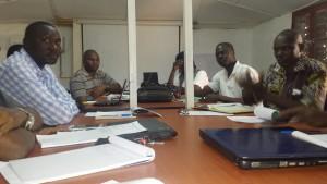 Les participants au Comité Directeur du District Sanitaire d'Adré soutenu par le BASE