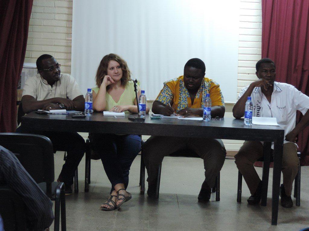 """Le panel """"Engagé pour la santé au Tchad"""" - Ph. France Volontaires"""